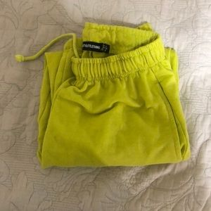 PRETTYLITTLETHING neon yellow casual jogger